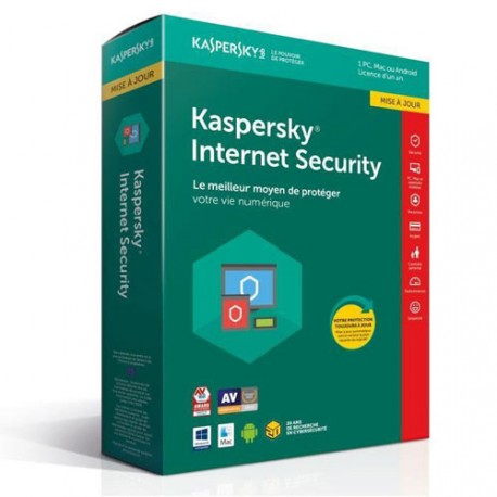 Kaspersky Internet Security 2019 10 poste Multi-Devices